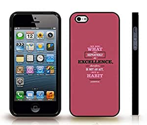 """iStar Cases? iPhone 4 Case with """"There's no such thing as too many owls"""" Funny, Cream Font, Owl Poster , Snap-on Cover, Hard Carrying Case (White)"""