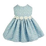 Fitwarm Elegant Floral Denim Pet Clothes for Dog Dress Sundress Vest Shirt, Blue, Medium