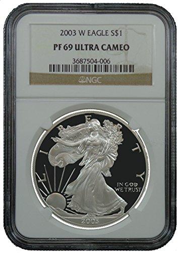 2003 W American Silver Eagle Dollar NGC PF69