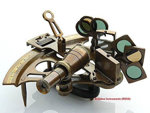 Solid Brass Sextant Henry Hughes London-Marine - Surveying Antique Instruments