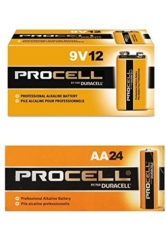 Duracell Procell AA 24 Pack, 9 Volt Batteries Pack of 12 Sal