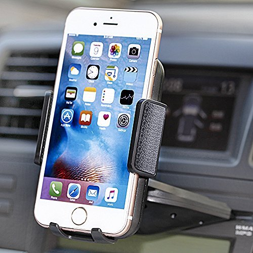 Car Mount,jamron Universal One Touch Installation Cd Slot Smartphone Car Mount Holder Cradle for Iphone 6/6 Plus/6s/6s Plus /5s/4,samsung Galaxy S6 S5 Note 5, Nexus 5,motorola and Other Android Phones