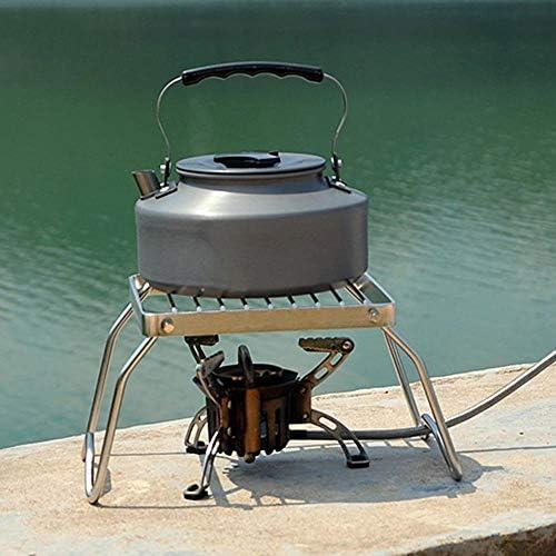 Honghaier Barbecue de camping pliable ultraléger en acier inoxydable pour 1 à 4 personnes