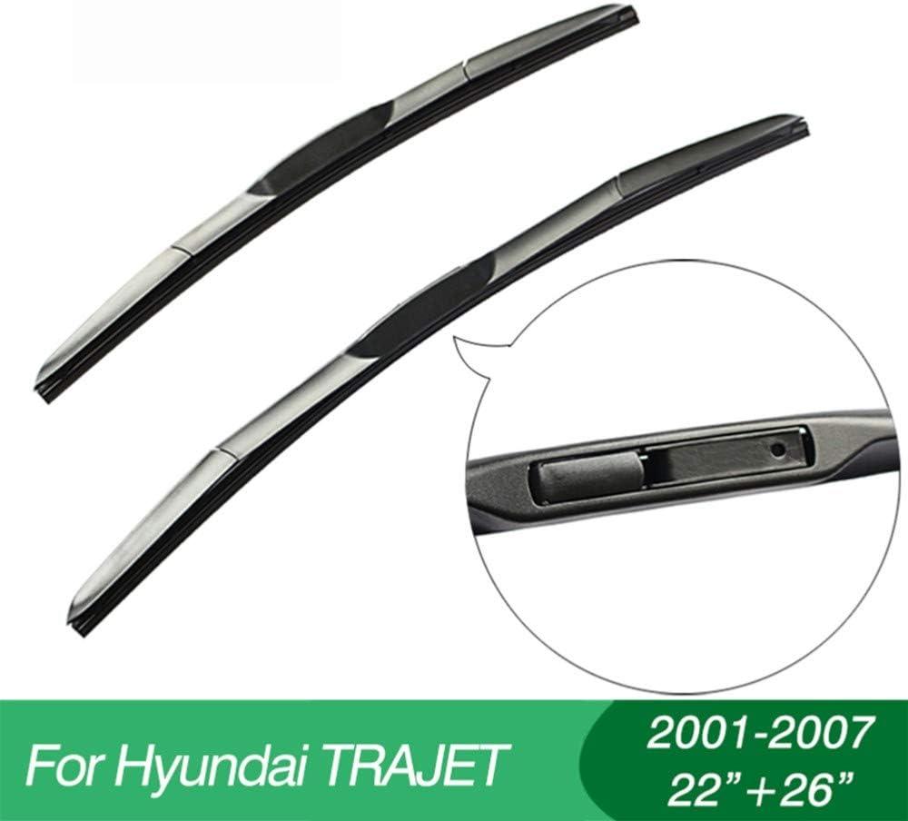 2001-2007 DANDELG Accesorio para Coche///Limpiaparabrisas Apto para Hyundai Trajet