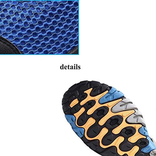 Onfly Bomba Malla Net Cloth Zapatos Zapatos deportivos Zapatos casuales Hombres Respirable Color puro Punta redonda Cordon de zapato Snekers Al aire libre Zapatos de escalada Zapatos para correr Tamañ coffee