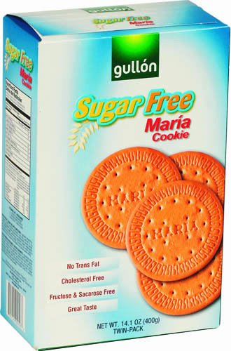Gullon Sugar-Free Maria Cookies, 14.1-Ounce Boxes (Pack of 10)