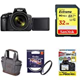 Nikon デジタルカメラ COOLPIX P900 ブラック クールピクス P900BK + アクセサリー4点セット(SDカード 32GB、カメラトートバッグ、液晶保護フィルム、レンズフィルター)