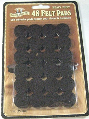 Parker & Bailey Heavy Duty Felt Pads 48 Ct. Self Adhesive Pads Dark Brown by Parker & Bailey (Image #1)