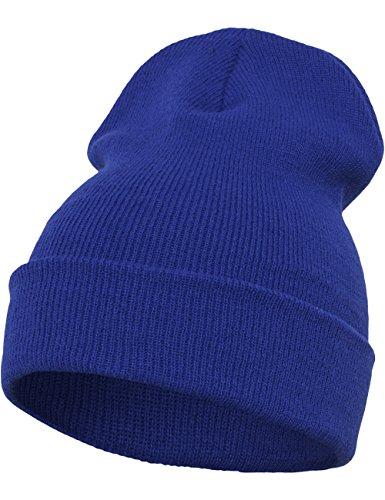Flexfit - Gorro Largo Pesado, Todo el año, Unisex, Color Morado, tamaño Talla única azul cobalto