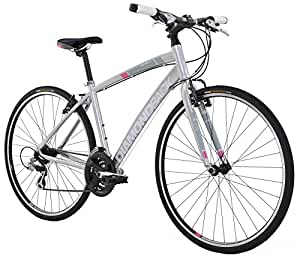 "Diamondback Bicycles 2016 Women's Clarity 1 Complete Performance Hybrid Bike, Silver, 14"" Frame"