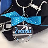 Gymnast on Beam Bag Tag Personalized with Your Name and Your Colors