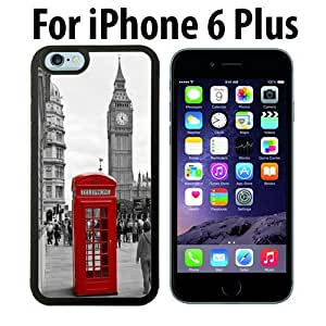 Classic London Red Telephone Box And Big Ben Custom Case/ Cover/Skin *NEW* Case for Apple iPhone 6 PLUS - Black - Rubber Case (Ships from CA) Custom Protective Case , Design Case-ATT Verizon T-mobile Sprint ,Friendly Packaging - Slim Case by icecream design