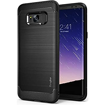 Galaxy S8 Plus Case, Ringke [Onyx][Updated Version] Brushed Metal Design [Flexible & Slim] Dynamic Stroked Pattern Trim Fingerprint Resistant Shock Absorbent Case for Samsung Galaxy S 8 Plus - Black