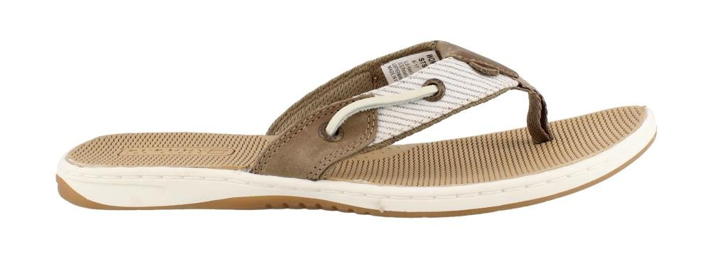 Sperry Women's, Seafish Nautical Style Thong Sandal Taupe 9 M