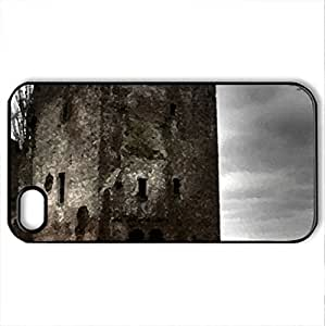 dark house - Case Cover for iPhone 4 and 4s (Houses Series, Watercolor style, Black)