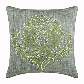 Admirable Amazon Com Green Throw Pillows Cover For Couch Beaded Ibusinesslaw Wood Chair Design Ideas Ibusinesslaworg