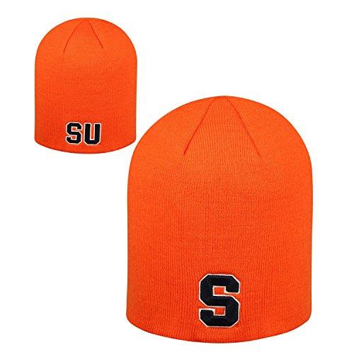 Top of the World Syracuse Orangemen Official NCAA Uncuffed Knit Classic Beanie Stocking Stretch Sock Hat Cap by 929538 (Football Orangemen Syracuse Ncaa)