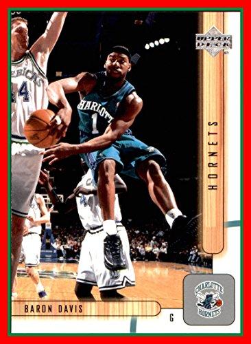 Davis Baron Hornets - 2001-02 Upper Deck #13 Baron Davis CHARLOTTE HORNETS UCLA BRUINS with Dirk Nowitzki Mavericks Defending