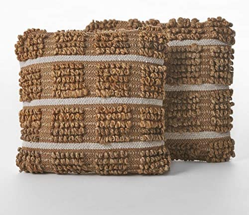 Christopher Knight Home Selki Jute Pillows, 2-Pcs Set, Natural