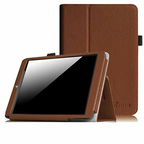 Fintie Odys Connect 8+ Hülle Case - Slim Fit Folio Kunstleder Schutzhülle Cover Tasche mit Ständerfunktion für Odys Connect 8+ 20 cm (7,9 Zoll) Tablet-PC, Braun