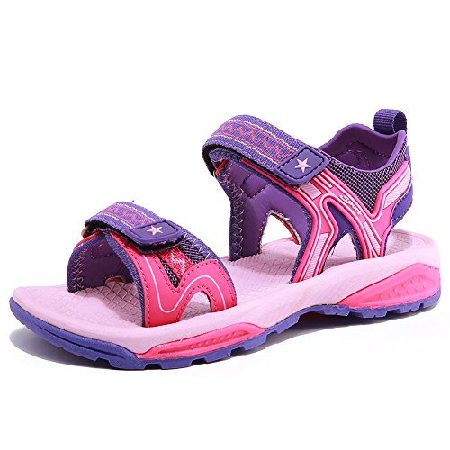 GUBARUN Kids Sport Sandal Outdoor Athletic Breathable Open-Toe Strap Sandal (Toddler/Little Kid/Big Kid)(12,Pink)