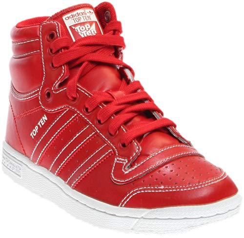 (adidas Mens Top Ten Hi Athletic & Sneakers Redwhite)