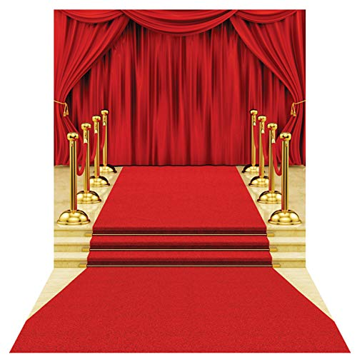 SJOLOON 6X9FT Red Carpet Photography Backdrops Curtain Lighting Prom Backdrop Vinyl Seamless Background Photography Props 11411 -