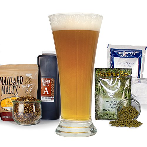 Ginger Snap Saison Farmhouse Light Ale - HomBrewing Beer Making Recipe Kit - Malt Extract, 5 Gallons Brewing ()