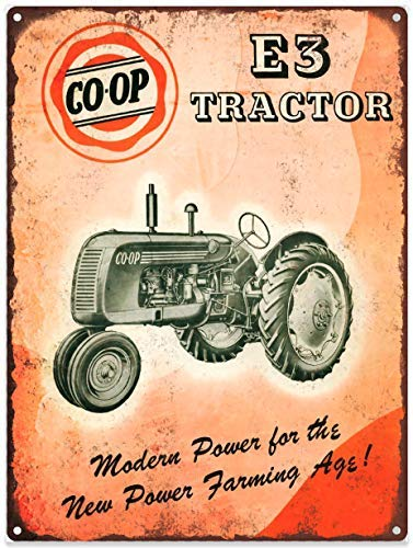 onepicebest 1948 Co-Op Coop E3 Tractor Farm Mancave Metal Sign Repro 12