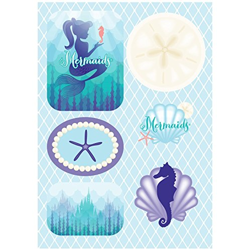 Mermaids Under the Sea Party Supplies - Sticker Sheets (4) (Little Mermaid Sticker Sheets)