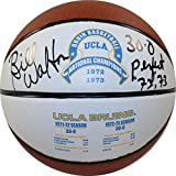 NCAA UCLA Bruins Bill Walton Signed UCLA 1972 and 1973 National Basketball with''30-0 72/73 Perfect ''Inscribed