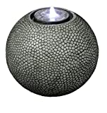 Cheap Pebble Sphere 19″ Fountain w/LED Light: Large Ball Water Feature, Indoor/Outdoor, Garden Fountain, Patio Fountain HF-S04-19L