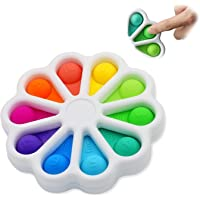 Flower Push Pop It Pop Bubble Fidget Toys, Early Simple Dimple Educational Toy for Anxiety Color Recognition Educational…