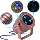 Cheriee Laser Christmas Lights Outdoor Projector Light Star Moving Laser Show Red, Green and Blue Holiday Light Waterproof Landscape Spotlight Aluminum Garden Decorations