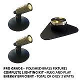 Patriot Brass LED Waterproof Pond and Landscape Lighting 3 Watt Light Kit P-A1