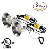 Simple Deluxe 2-Pack Clamp Lamp Light with 5.5 inch Aluminum Reflector up to 60 Watt E26 (No Bulb Included) 6 Feet Cord UL Listed