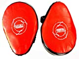 ZZZRT Pro MMA Cowhide Leather Focus Pads Punch Mitts + Free Packing