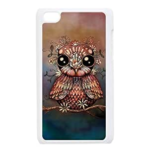 DIY Owl & Flowers Case, DIY Hard Back Shell Case for ipod touch 4 with Owl & Flowers (Pattern-7)
