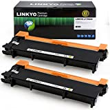 LINKYO Replacement Toner Cartridges for Brother TN660 TN-660 TN630 TN-630 (Black, High Yield) Compatible With HL-L2340DW HL-L2300D DCP-L2540DW MFC-L2700DW MFC-L2740DW, 2-Pack