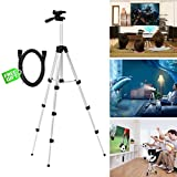 Projector Mount,Universal Aluminum Projector Tripod Stand Adjustable Travel Portable Gopro Mount Multi-function Stand with Extendable Length for Projector Digital Cameras Camcorders + Free HDMI Cable