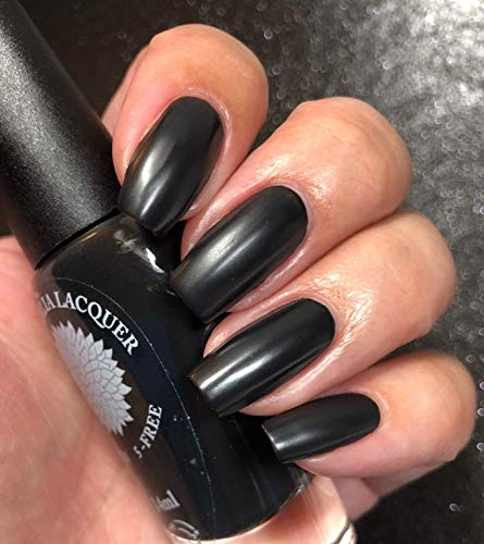 Latex | Pitch Black Matte Nail Polish | Halloween | By Black Dahlia Lacquer