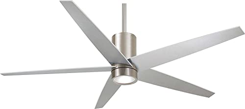 56 Minka Aire Symbio Brushed Nickel Ceiling Fan with Remote Control
