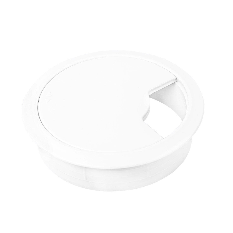 Encastrable pour Connexion de C/âble USB Blanc Plastique PVC CPU /& Moniteur 2 Pi/èces /Œillet: 71mm Gedotec Passe C/âble de Bureau et Plan de Travail Alimentation Diam/ètre Forage: 60mm