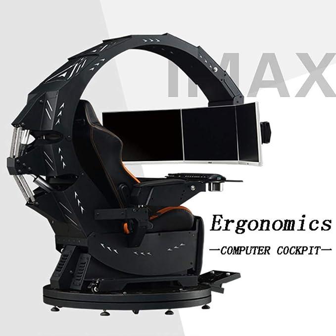 XBRMMM Computer Chair Game Esports Stuhl Geeignet Für Alle Wichtigen Spielhallen,Büros Und Familien,erfüllt Die Ergonomischen Gaming-Stuhl,Schwarz,Entlasten Sie Cervical Fatigue,Robust
