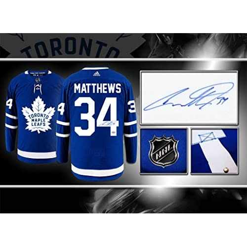 official photos b6033 392c2 Auston Matthews Toronto Maple Leafs Adidas Pro Autographed ...