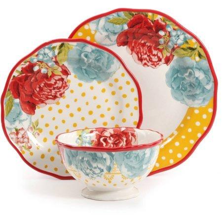 The Pioneer Woman 12-Piece Dinnerware Set Blossom Jubilee