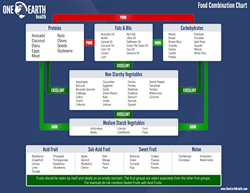 AmazonCom One Earth Health Alkaline Food And Ph Chart X