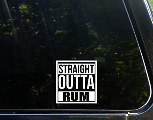 Sweet Tea Decals Straight Outta Rum - 3 3/4