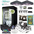Thebudgrower Com Complete Indoor Grow Kit With Fan Soil 48 X48 X80 Hut Everything You Need To Grow Organic Plants Inside With Full Video Instructions