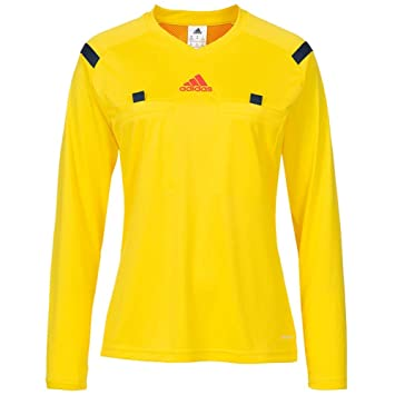 best sneakers 1629d 504c7 Adidas 14 Referee Jersey Long Sleeve- Vivid Yellow, Uniforms ...